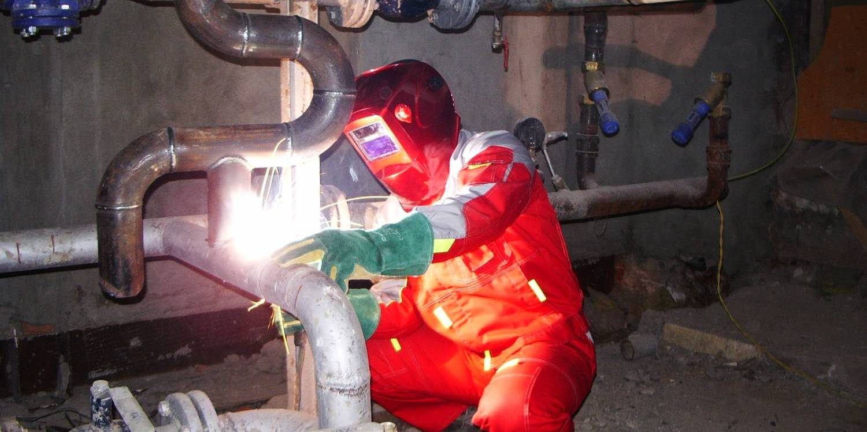 Зварювання трубопроводів опалення